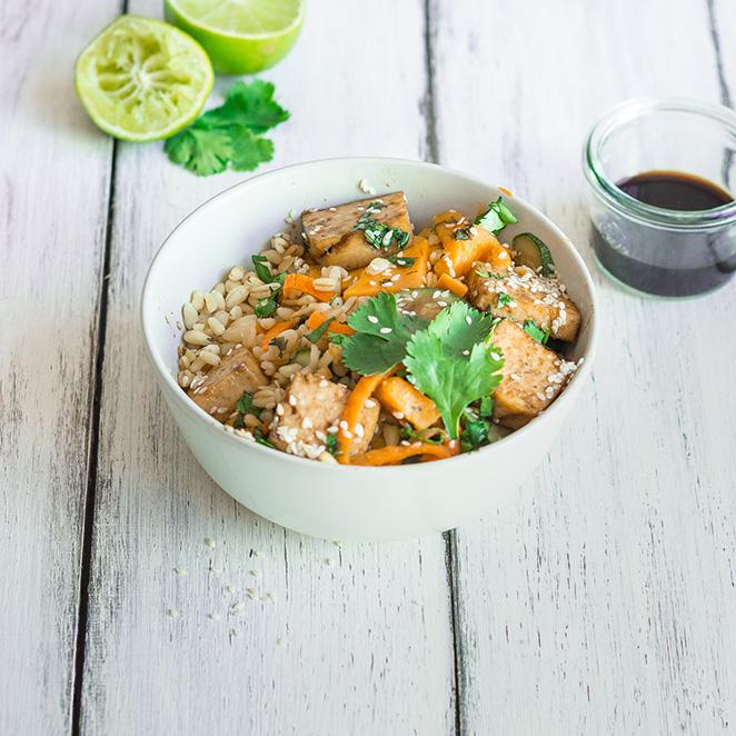 Kokos weizen mit tofu und gem se for Kochtipps schnell