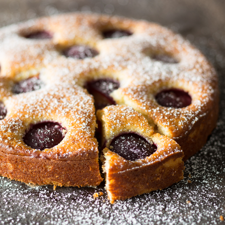 Pflaumenkuchen Mit Ricotta Und Olivenol