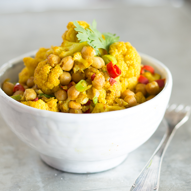 Blumenkohl Kichererbsen Curry