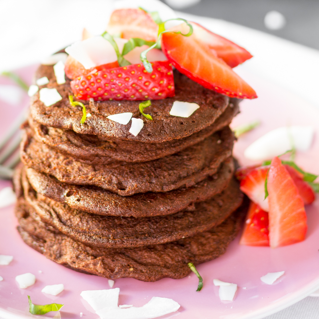 low carb pancakes 39 double chocolate chip 39. Black Bedroom Furniture Sets. Home Design Ideas