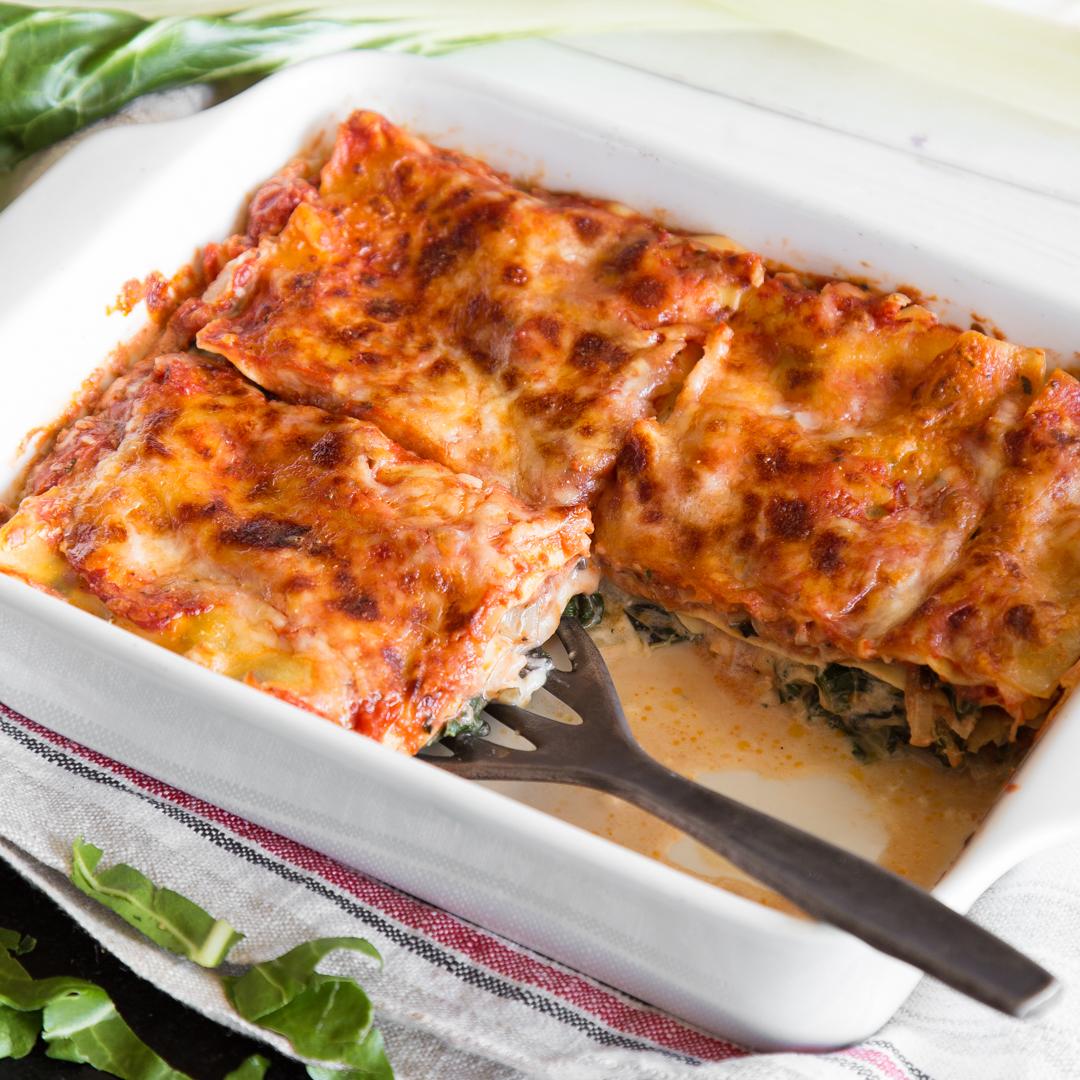 spinat ist raus saftige mangold ricotta lasagne. Black Bedroom Furniture Sets. Home Design Ideas