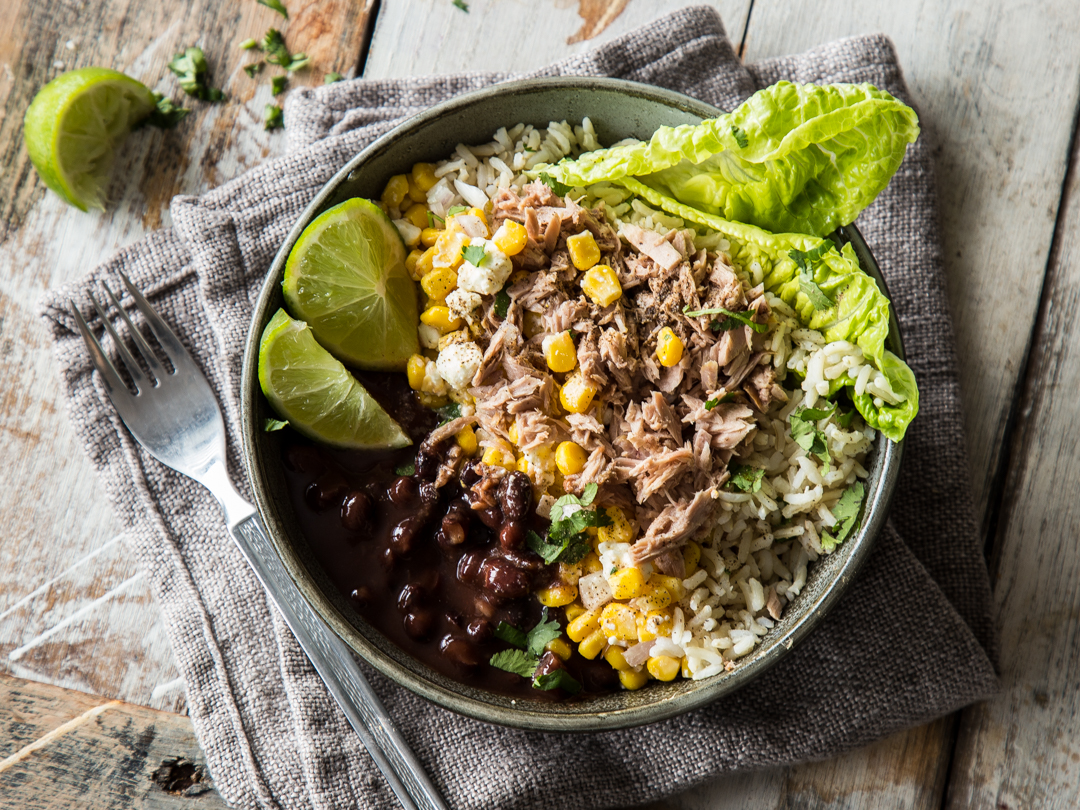 Thunfisch-Burrito-Bowl