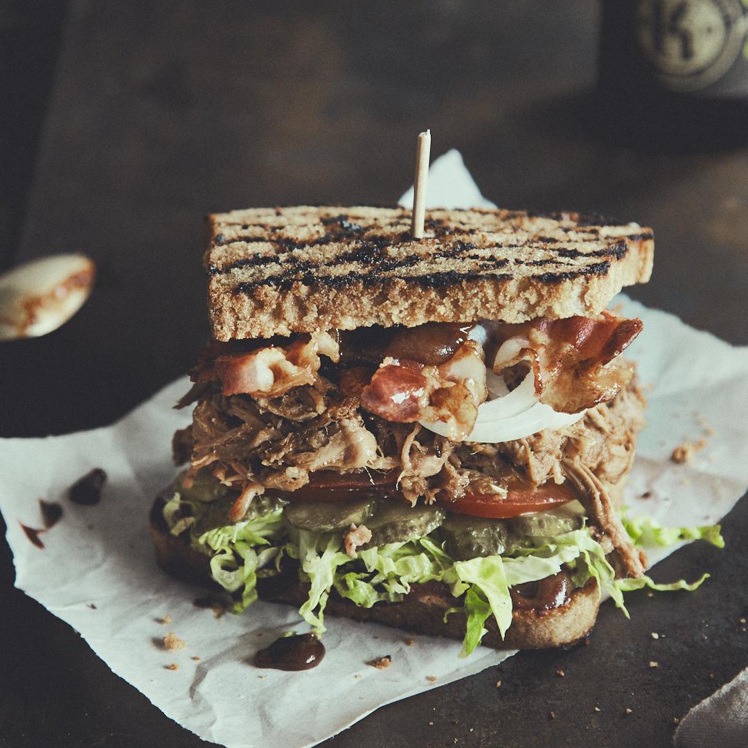 Pulled Pork BLT Sandwich