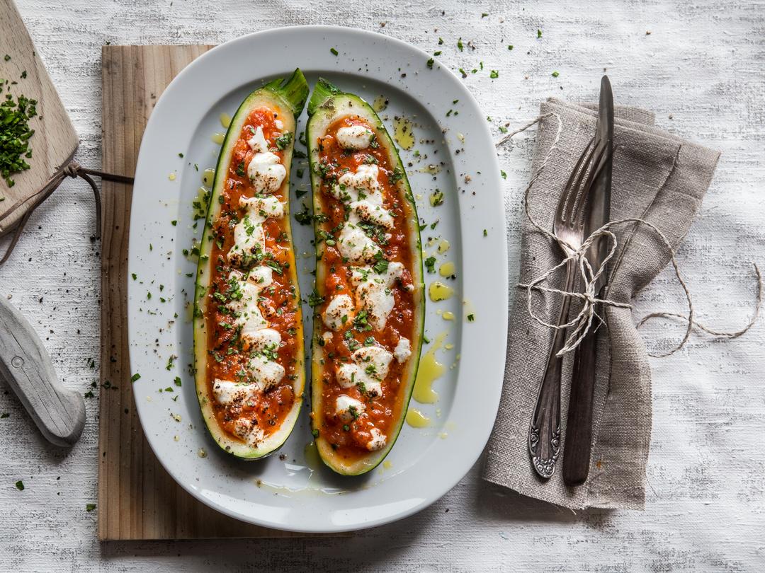Rezept gefullte zucchini quinoa