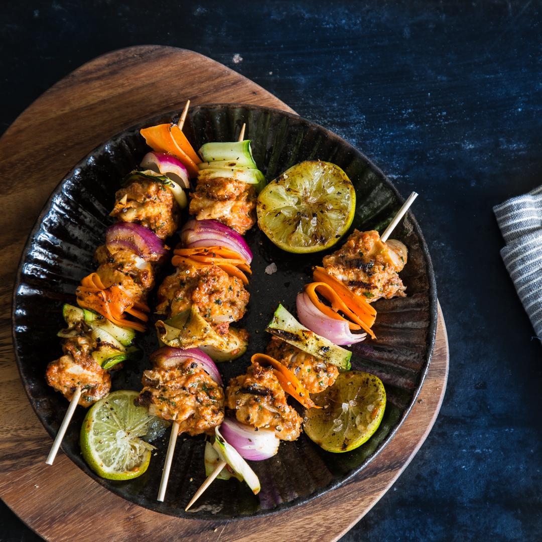 Marokkanische fischspie e vom grill for Beistelltisch zum grillen