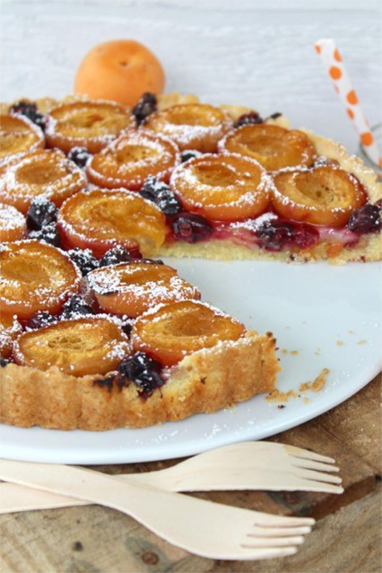 Aprikosen-Marzipan-Tarte © ulla trulla backt und bastelt