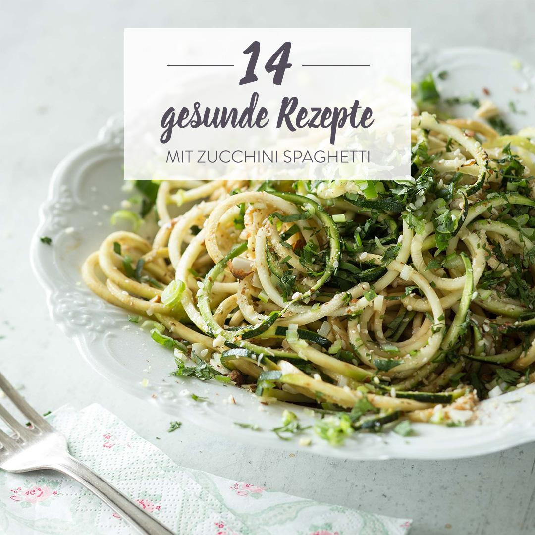 Zucchini Spaghetti Rezepte: 14 mal grün-gesunde Nudelliebe