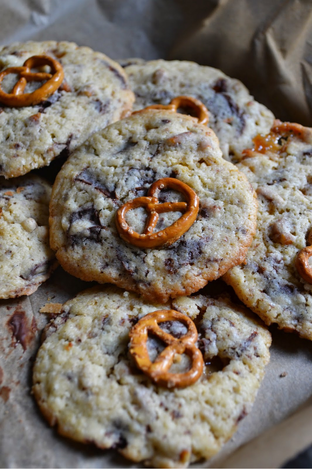 Chocolate Chip Toffee Pretzel Cookies © The Recipe Suitcase