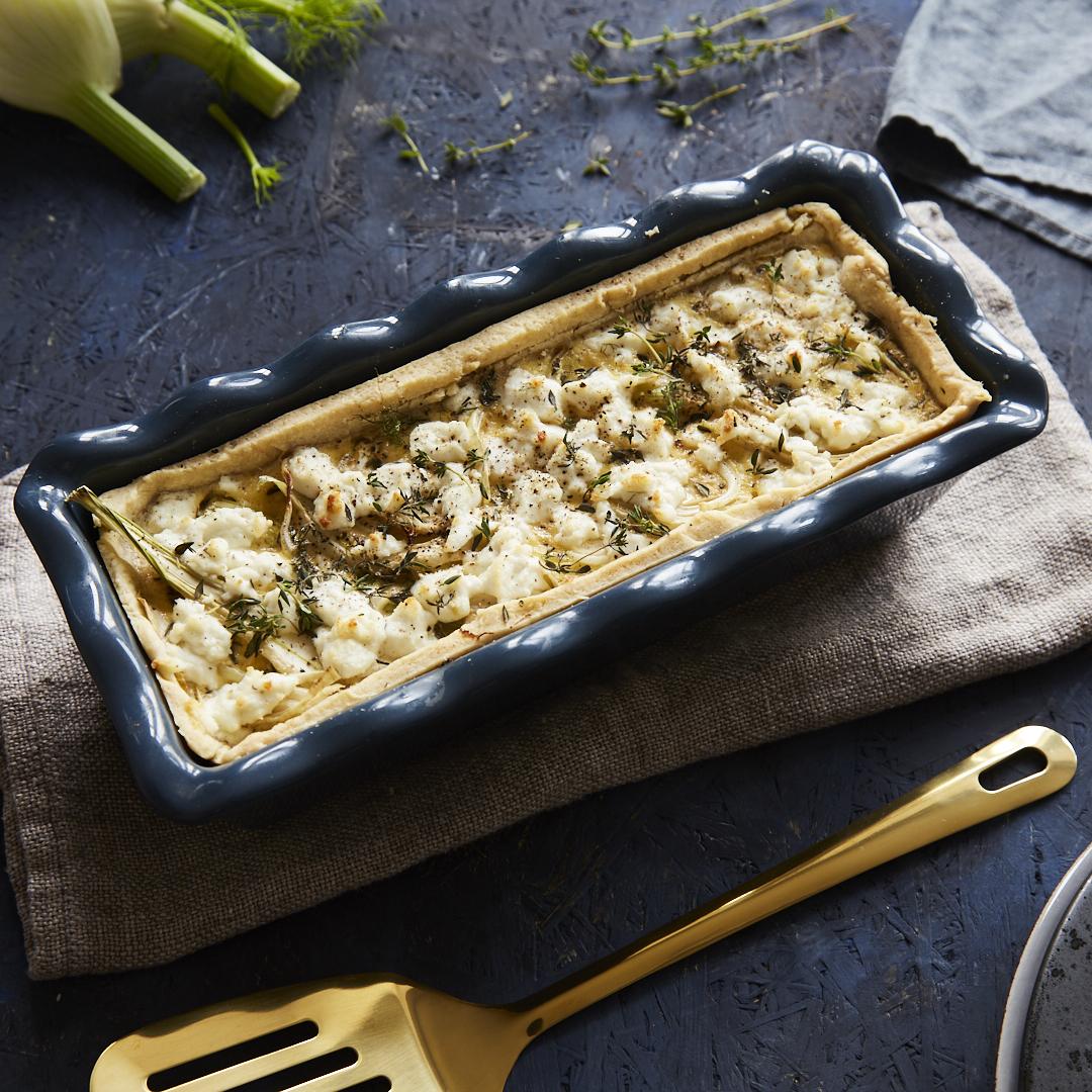vegetarische sauerkraut quiche mit fenchel. Black Bedroom Furniture Sets. Home Design Ideas