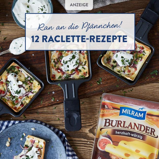 Raclette: Lachs-Pfännchen mit Kartoffeln und Zucchini