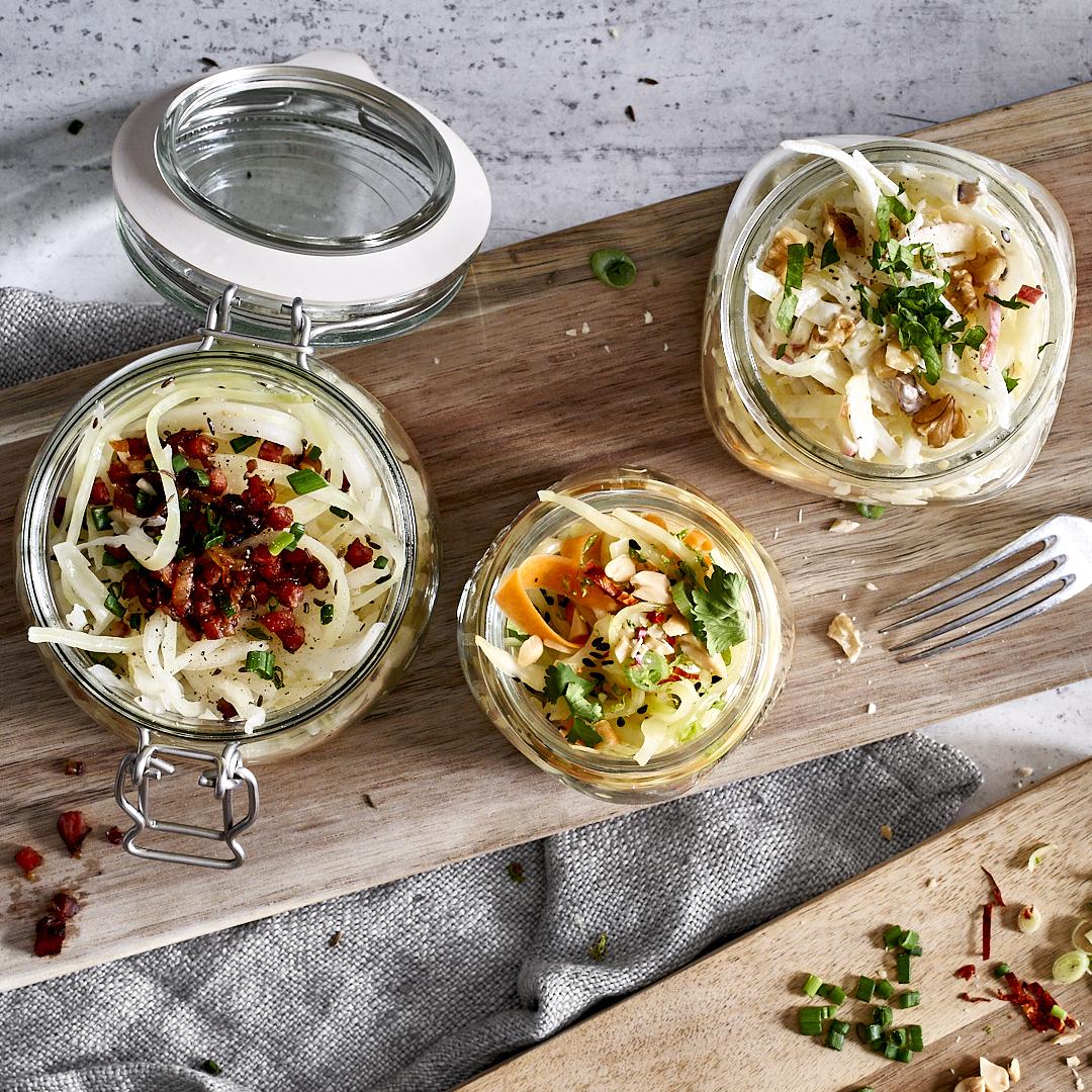 Dreierlei Krautsalat – asiatisch, bayrisch und cremig