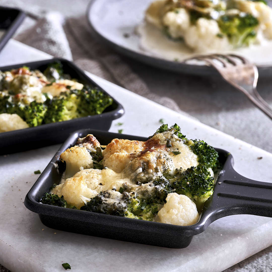 Blumenkohl-Brokkoli-Raclette – Low Carb