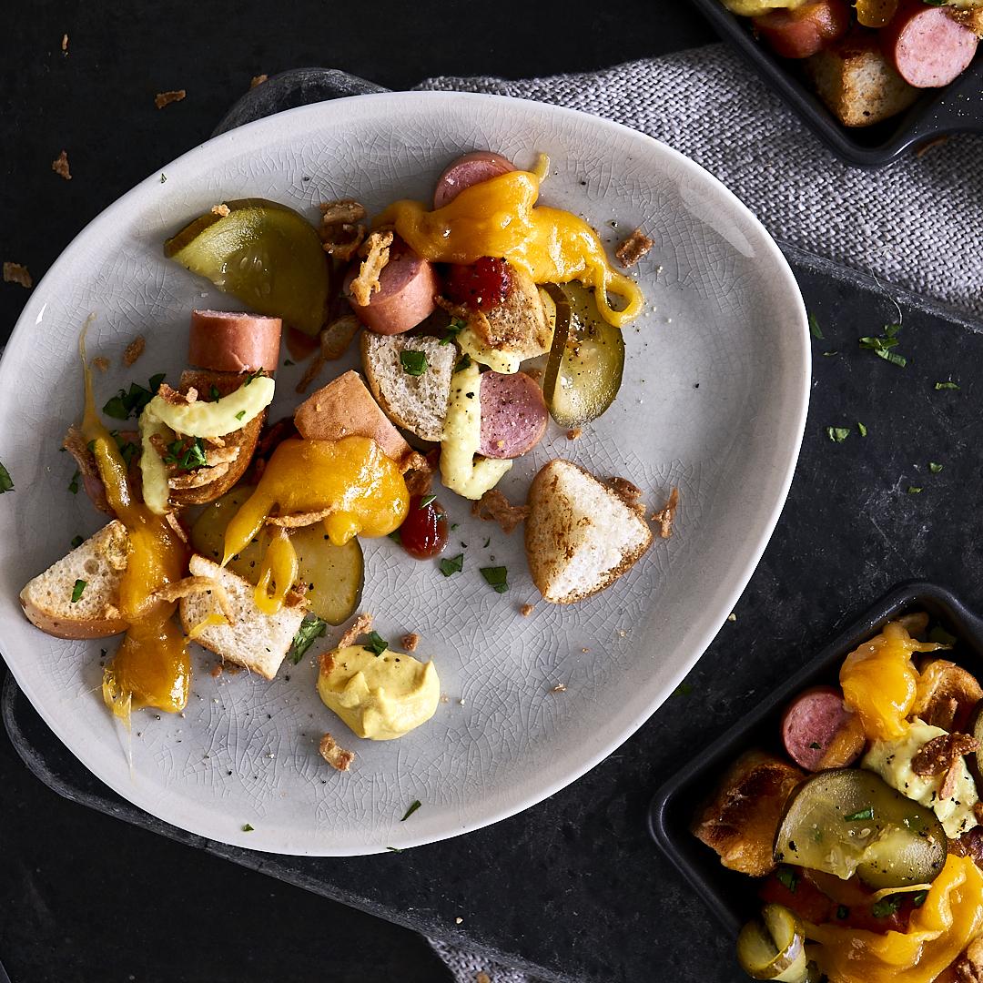 Hot-Dog-Pfännchen aus dem Raclette