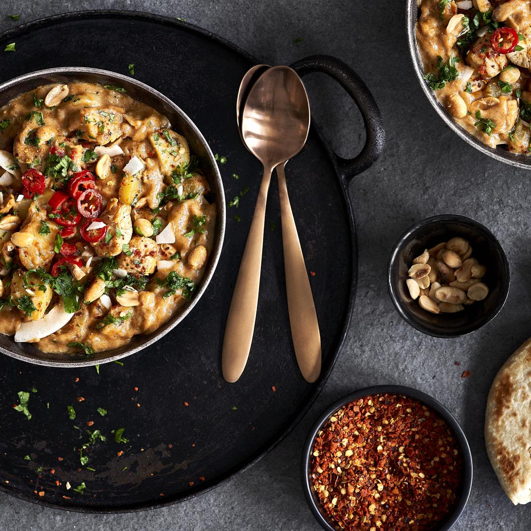 Schnelles Hähnchen-Curry Massaman