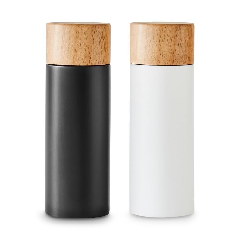 K&G Salz-und Pfeffermühlen 2er-Set in schwarz-weiß