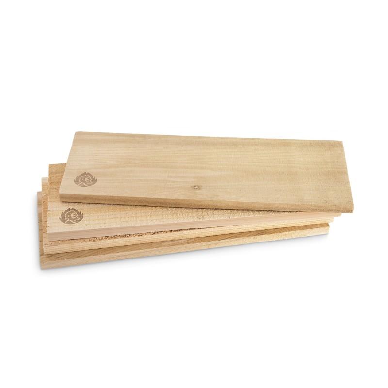 Räucherbrett Zedernholz — 40 x 14,5 cm, 4er-Set