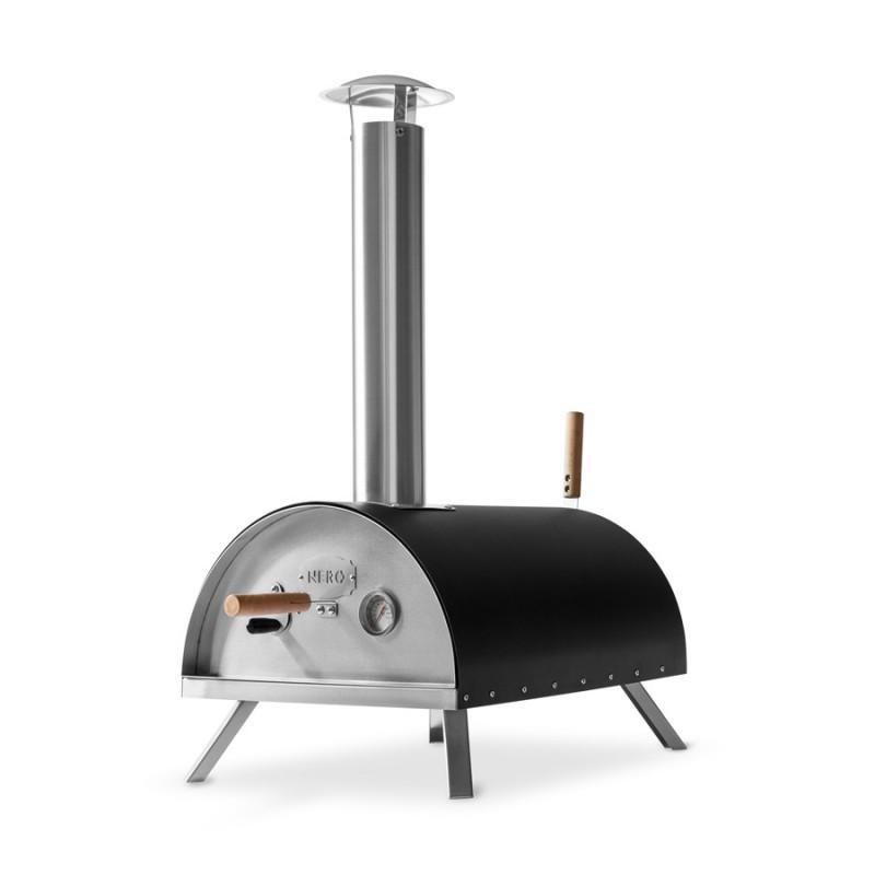Nero Outdoor Pizzaofen von Burnhard mit vier klappbaren Edelstahlfüßen