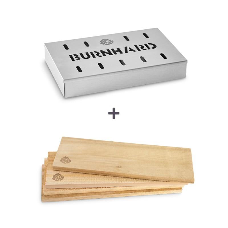 Burnhard Räucher-Set mit Smokerbox und Räucherbrettern